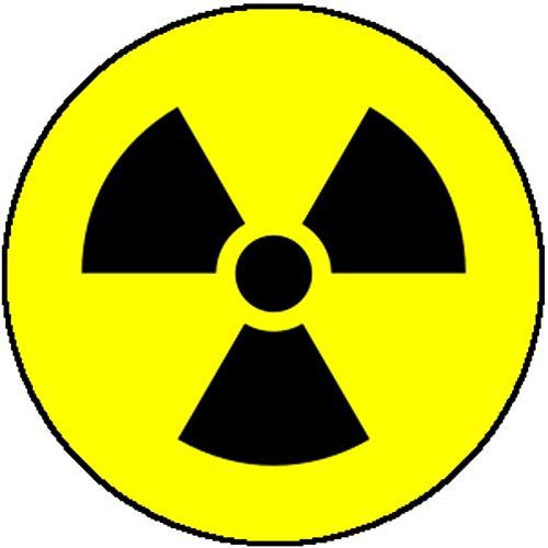 (Color Comedy Badge Pin Radiation Radioactive Atomic Uranium Danger Warning Fun)