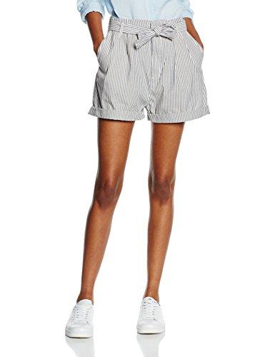 Blu Stripe Jeans Shorts Belt Fowley Tommy Railroad Donna Fors Short Highwaist WvwqFn1P0