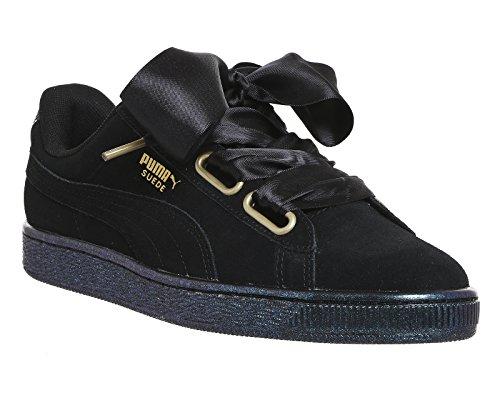 Puma Suede Heart Satin W Calzado Negro