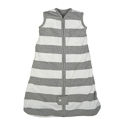 Heather Blanket (Burt's Bees Baby - Beekeeper Wearable Blanket, 100% Organic Cotton, Rugby Stripe Heather Grey (Small))