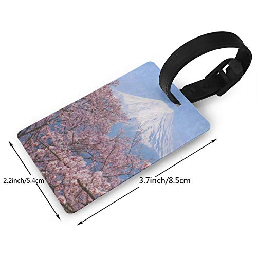 42adf57dba1 Luggage Tags Custom Fuji Cherry Blossom Japan Spring Season PVC Suitcase  Labels Travel Accessories ID Labels (1pcs)