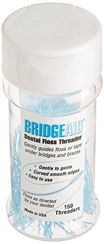 BridgeAid Dental Floss Threader Bottle 150, 3 Pack by BridgeAid