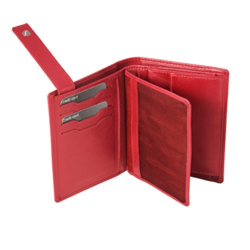 wallet Book for purse Plume model Red DV men coin folding by ~ Leather Collection with EF4pqnO
