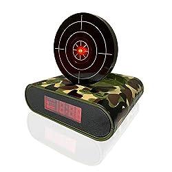 Haihongli Alarm Clock Desk Shooting Target Alarm Clock Bedroom for Children Toy Gifts