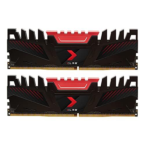 PNY XLR8 Kit of RAM Desktop Memory DDR4 DIMM 3200 MHz 32GB (2x16GB), Black, MD32GK2D4320016XR