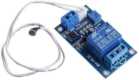 ARCELIInterruptor de Control de luz 12V Sensor de detección del módulo de relé fotorresistor XH-M13