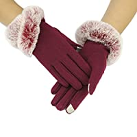 King Star Screen Touch Gloves Winter Thick Warm Lined Smart Texting Gloves