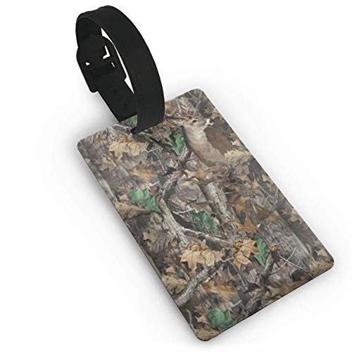 (Puyrtdfs Realtree Camo Wallpapers Travel Luggage Tag Bag Baggage Travelling Suitcase Labels Name Address PVC Size 2.2'' X 3.7'')