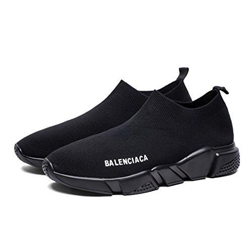 Calzini Scarpe Casual Primavera Nero Leggero 44 Donna Calze Knit Dimensione Uomo Nero Traspirante Lovers Sneakers Shoes Autunno Colore elastiche 8CqnU0t