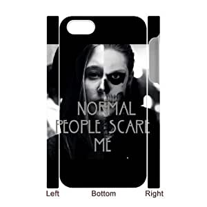 Normal people scare me High Qulity Customized 3D Cell Phone Case for iPhone 4,4S, Normal people scare me iPhone 4,4S 3D Cover Case