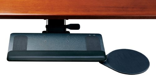Locking Keyboard Tray - Humanscale 900 Standard Keyboard Tray System w/ 6G Arm mechanism, 12R Right Mouse, and Gel Palm Rest