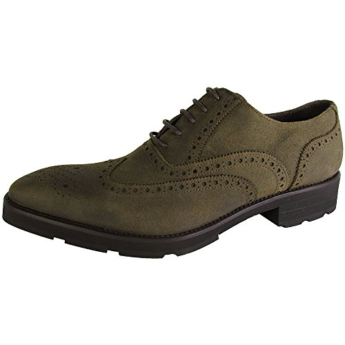 Donald J Pliner Signature Mens Cane-zb Wingtip Oxford Shoes Olive Treated Suede