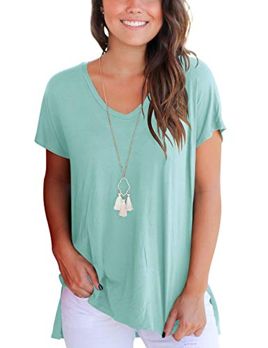 Aokosor Ladies Casual Short Sleeve Summer T Shirts Tops Clothing T-Shirts