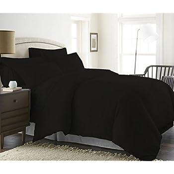 1200 Thread Count Three (3) Piece King Size Black Stripe Duvet Cover Set, 100% Egyptian Cotton, Premium Hotel Quality