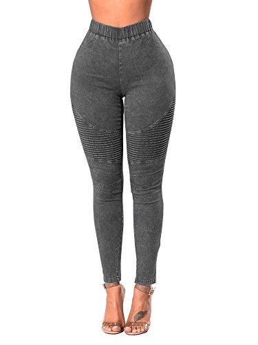 64b54e41adc Xudom Womens Skinny Jeans Leggings High Waisted Stretch Denim Butt Lift  Pencil Jeggings