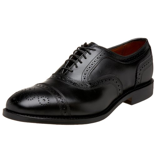 Allen Edmonds Men's Strand Cap Toe With Perfing,Black,10 D US
