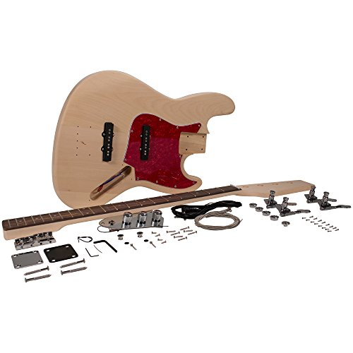 Seismic Audio – SADIYG-19 – Vintage J-Bass Style DIY Electric Guitar Kit – Unfinished Luthier Project Kit