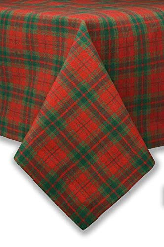 Justina Claire Red Tartan Rectangle Tablecloth 54