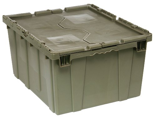 (Quantum QDC2820-15 Plastic Storage Container with Attached Flip-Top Lid,  28-Inch by 20-Inch by 15-Inch, Gray)