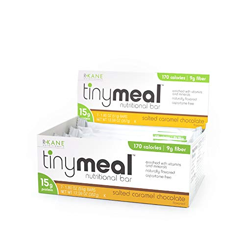 Tiny Meal by R-Kane Nutritionals Salted Caramel Chocolate Protein Bar, Meal Replacement Bar