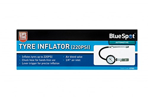 Blue Spot Tools 7905 Tyre Inflator Silver