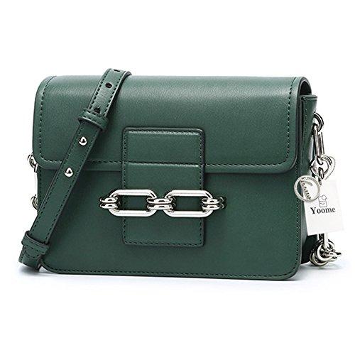 Yoome YooHY055 - Bolso cruzados para mujer Marrón marrón S Verde