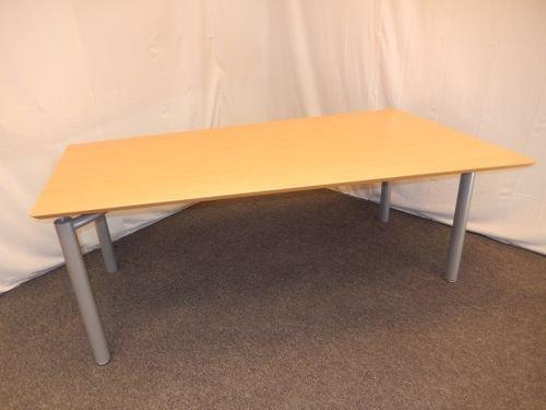 Mesa de escritorio, la mitad de la de trapecio 180 x 80/100 cm ...