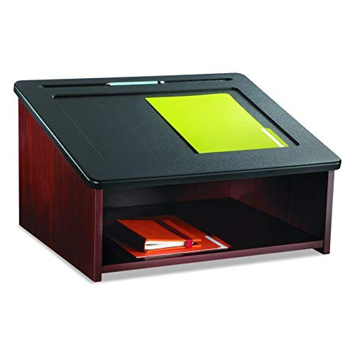 Folding Tabletop Lectern - Safco Products 8916MH Table Top Lectern, (Optional Base 8917MH sold separately), Mahogany