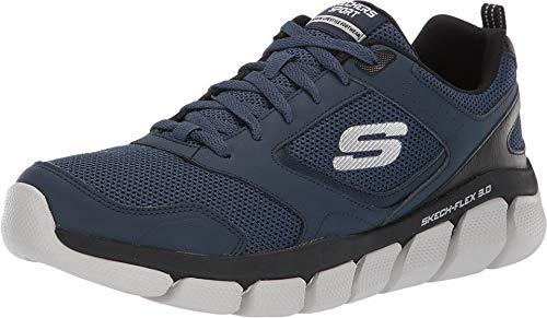 Skechers 52844-NVBK: Men's Skech-Flex 3.0 Navy/Black Sneakers (11 D(M) US Men)