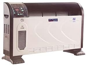 Brubaker - Convector (2500 W, mando a distancia y temporizador, se puede fijar a la pared o colocar en posición vertical, con protección contra heladas)