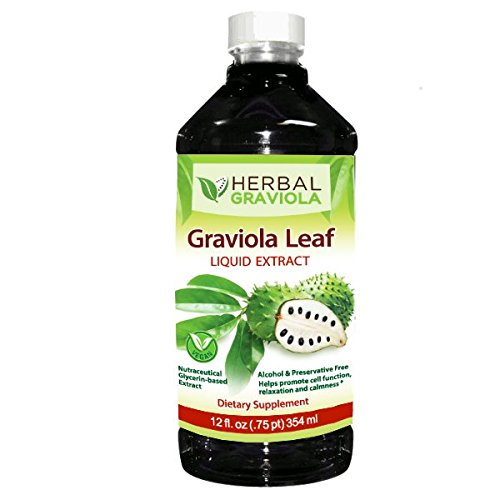 Graviola Soursop Leaf Extract Liquid - 12oz by Herbal Graviola