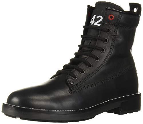 Diesel Men's D-THROUPER DBB Z-Ankle Boot Fashion, Black, 10.5 M US