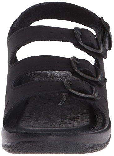 Spring Stap Vrouwen Willa Wedge Sandaal Zwart