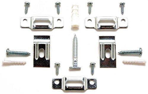 T-Lock security hangers locking hardware set for (100) wood or metal picture frames plus 3 FREE WRENCHES (2 regular, 1 extra-long)! by ArtRight