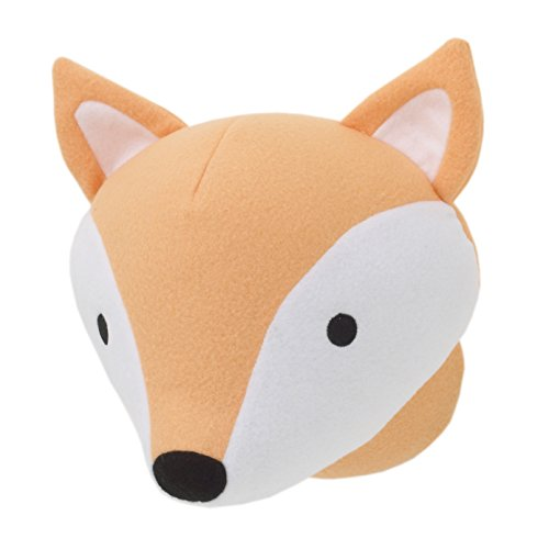 - Little Love by NoJo Plush Head Nursery Wall Decor, Fox, Orange, White