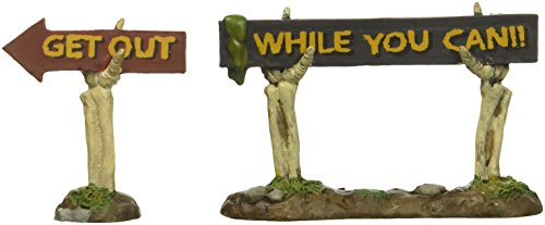 Department 56 Village Halloween Boneyard Spooky Signs Accessory, 2.09 inch]()