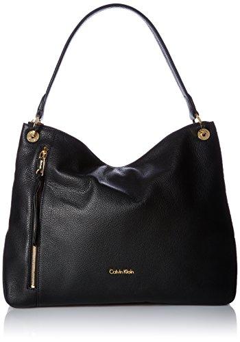 Calvin Klein Classic Pebble Slouchy Hobo - Black/Gold - O...