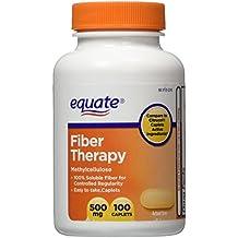 Equate Fiber Therapy For Regularity Fiber Supplement Caplets, 500mg, 100-Count Bottle