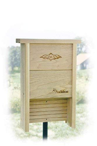 - New Woodlink Audubon Series Bat Shelter 20 Bats Capacity Handcrafted Made Of Natural Cedar