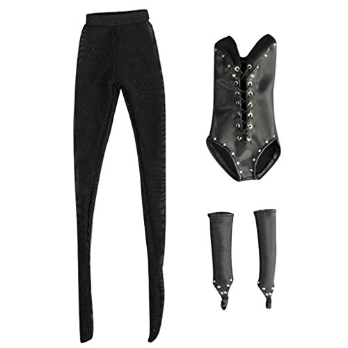 Jili Online 1/6 Sexy Lace Up Corset Teddy Tights Set for Hot Toys Kumik Female Figures (Sexy Outfits Online)