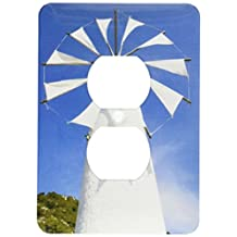 3dRose lsp_81900_6 Greece, Crete, Iraklio, Ano Kera, Cretan Windmill Eu12 Wbi1395 Walter Bibikow 2 Plug Outlet Cover