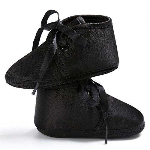 Hunpta Babyschuhe jungen Mädchen Neugeborenes Krippe weiche Sohle Schuhe Sneakers Schwarz