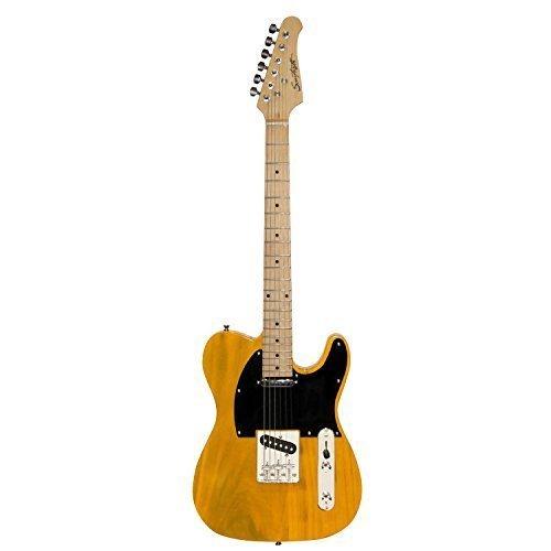 Sawtooth ST-ET-BSB Electric Guitar, Butterscotch with Black Pickguard