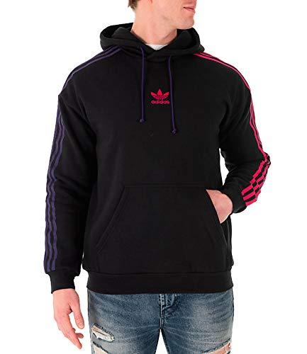 adidas Originals Men's 3 Stripe Hoody Black 'XX-Large' ()