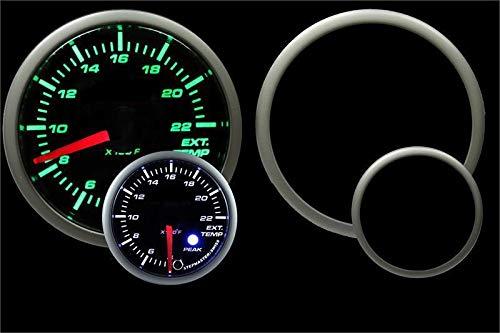 Prosport Premium 52mm Exhaust Gas Temperature Gauge 0-2200F Green/White by Prosport Performance
