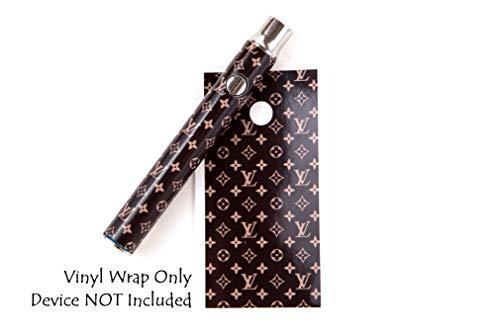 510 Threaded Battery Pen Vape Skin Wrap Decal Vinyl Sticker Designer Brown LV