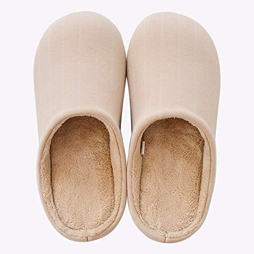 Casa pantofole Interno Mute Xiaogege Fondo Antiscivolo Inverno Color Crema Cotone Muto Di Caldo YAdUSw