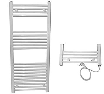 Eléctrico baño calentador Toallas Alpha-C - Radiador de baño blanco 1160 x 500 mm: Amazon.es: Bricolaje y herramientas
