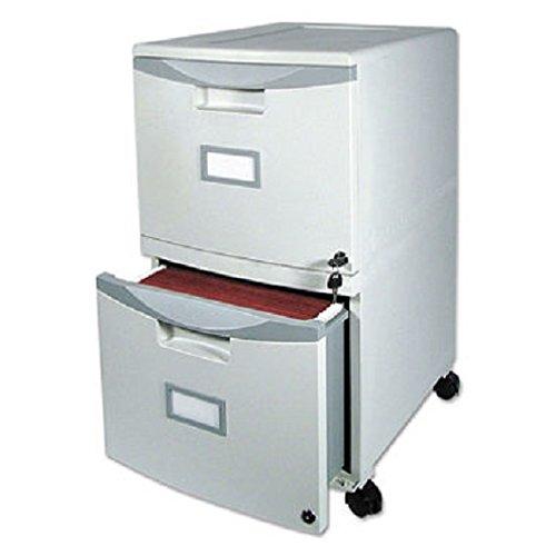 Storex Wheeled Two-Drawer Filing Cabinet