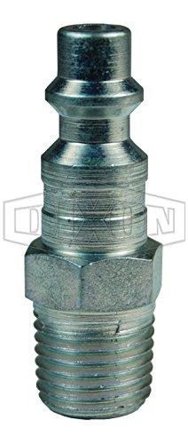 Dixon Valve & Coupling 238-D2M2 Steel DQC DF-Series Industrial Male Plug, 1/4'' (Pack of 10)